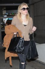 COURTNEY LOVE at LAX Airport in Los Angeles 05/22/2017