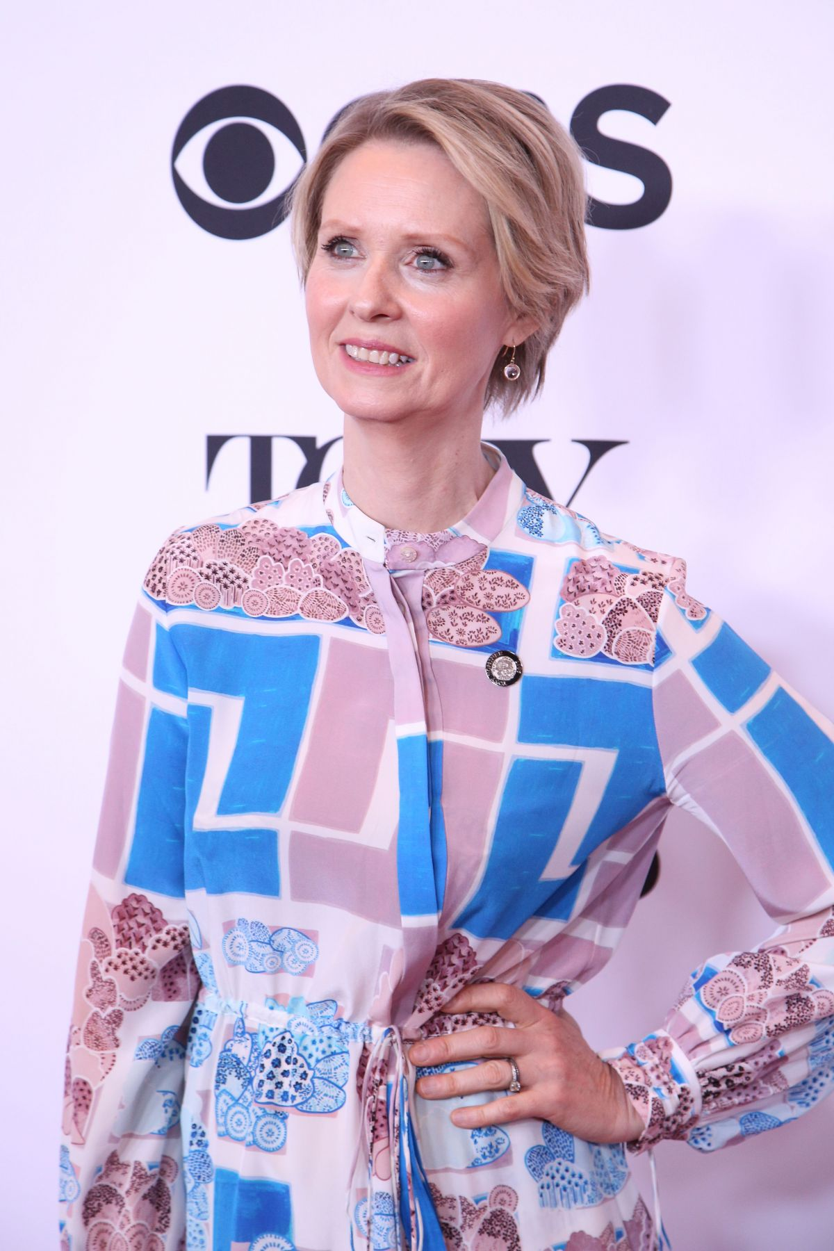 CYNTHIA NIXON at 2017 Tony Awards Meet the Nominees Press Junket in New York 05/03/2017