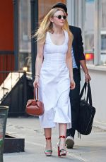 DAKOTA FANNING Out and About in New York 05/17/2017