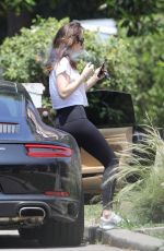 DAKOTA JOHNSON in Tights Out in West Hollywood 05/12/2017