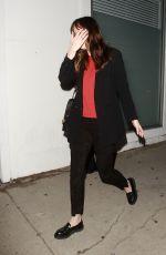 DAKOTA JOHNSON Leaves a Restaurant in Los Angeles 05/12/2017