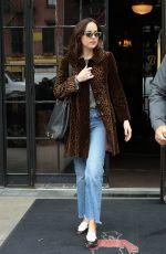 DAKOTA JOHNSON Leaves Her Hotel in New York 05/01/2017