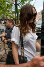 DAKOTA JOHNSON Leaves Her Hotel in New York 05/02/201.