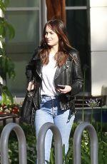 DAKOTA JOHNSON Leaves Sony Pictures Studios in Los Angeles 05/17/2017