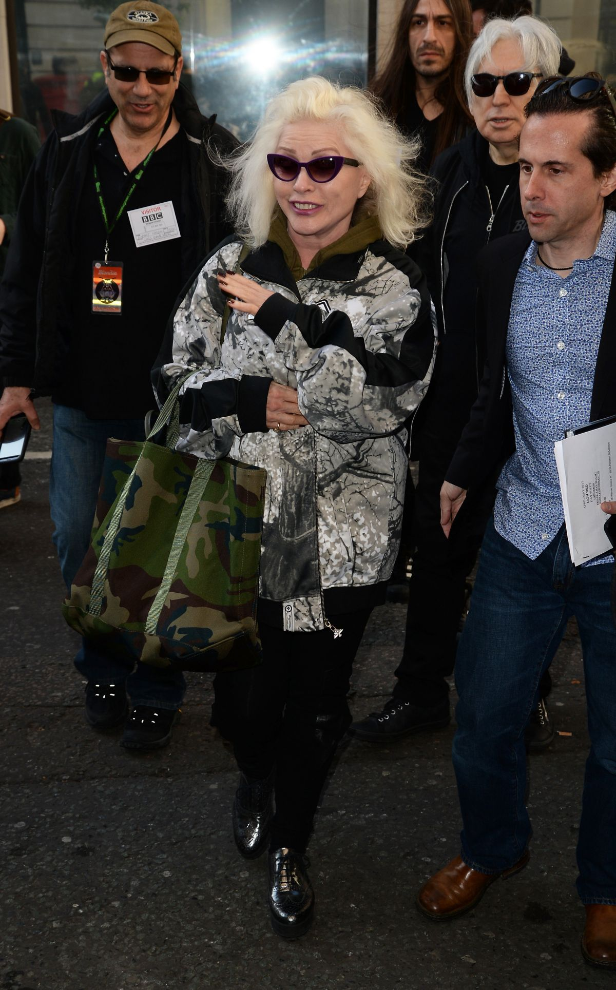 DEBBIE HARRY Arrives at BBC Radio 2 Studios in London 05/05/2017