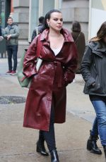 DEBI MZARA on the Set of Younger in New York 05/05/2017