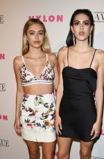 DELILAH and AMELIA HAMLIN at Nylon Young Hollywood May Issue Party in Los Angeles 05/02/2017