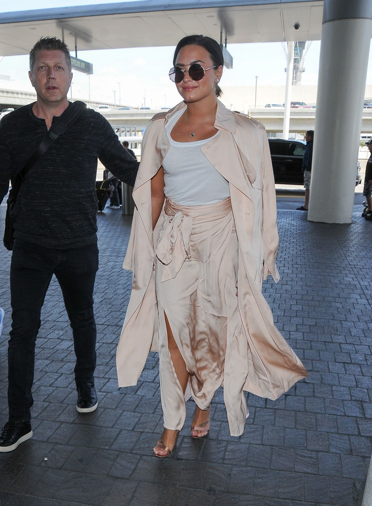 DEMI LOVATO at LAX Airport in Los Angeles 05/16/2017