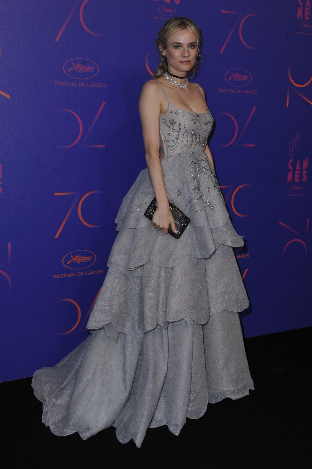 DIANE KRUGER at Cannes Film Festival 70th Anniversary Dinner 05/23/2017