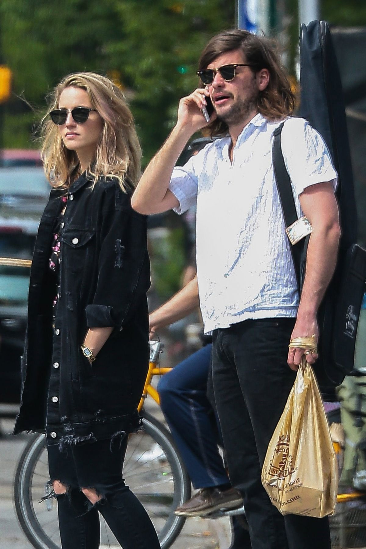 DIANNA AGRON and Winston Marshall Out in New York 05/26 ...