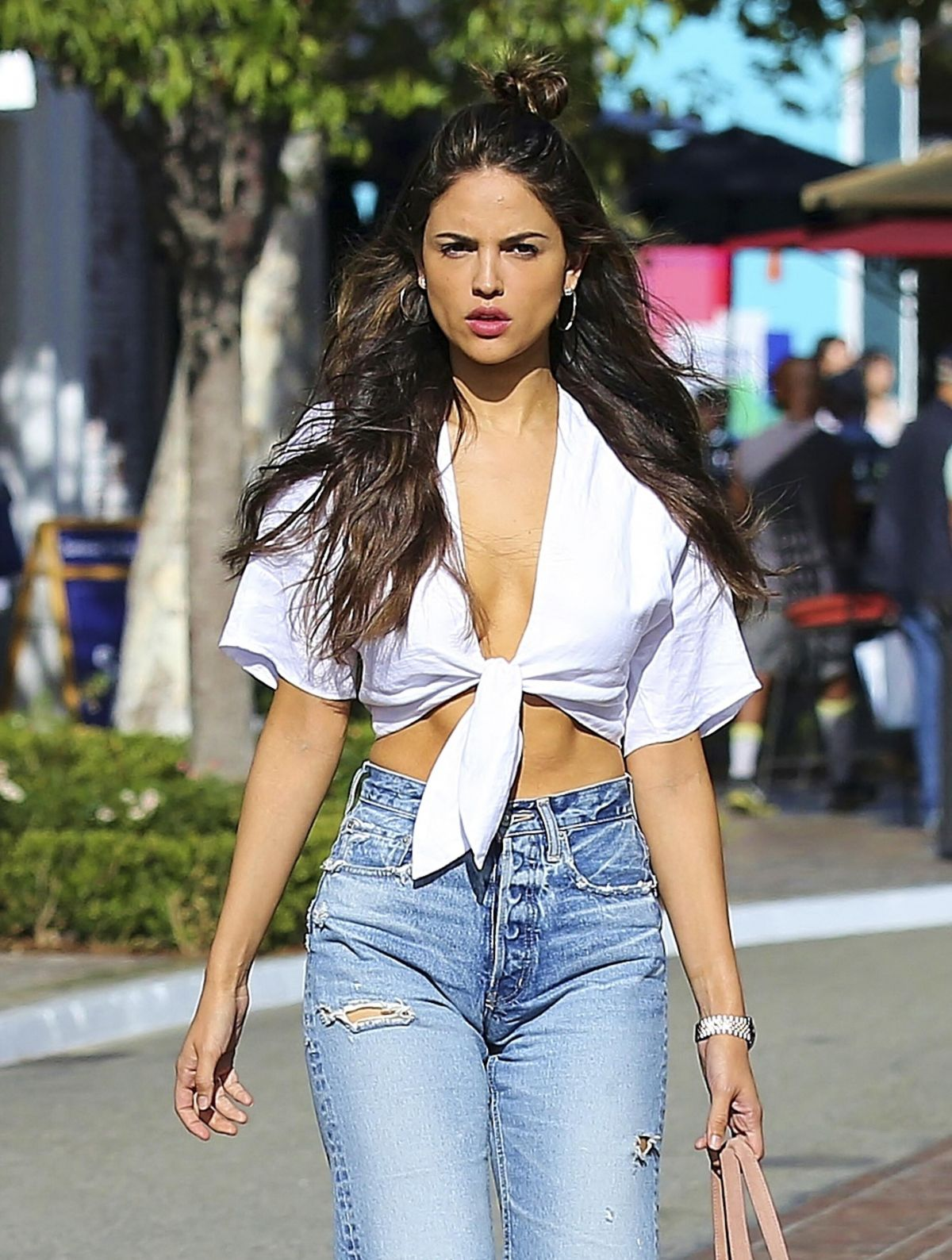 EIZA GONZALEZ in Ripped Jeans Out Shopping in Hollywood 05/17/2017