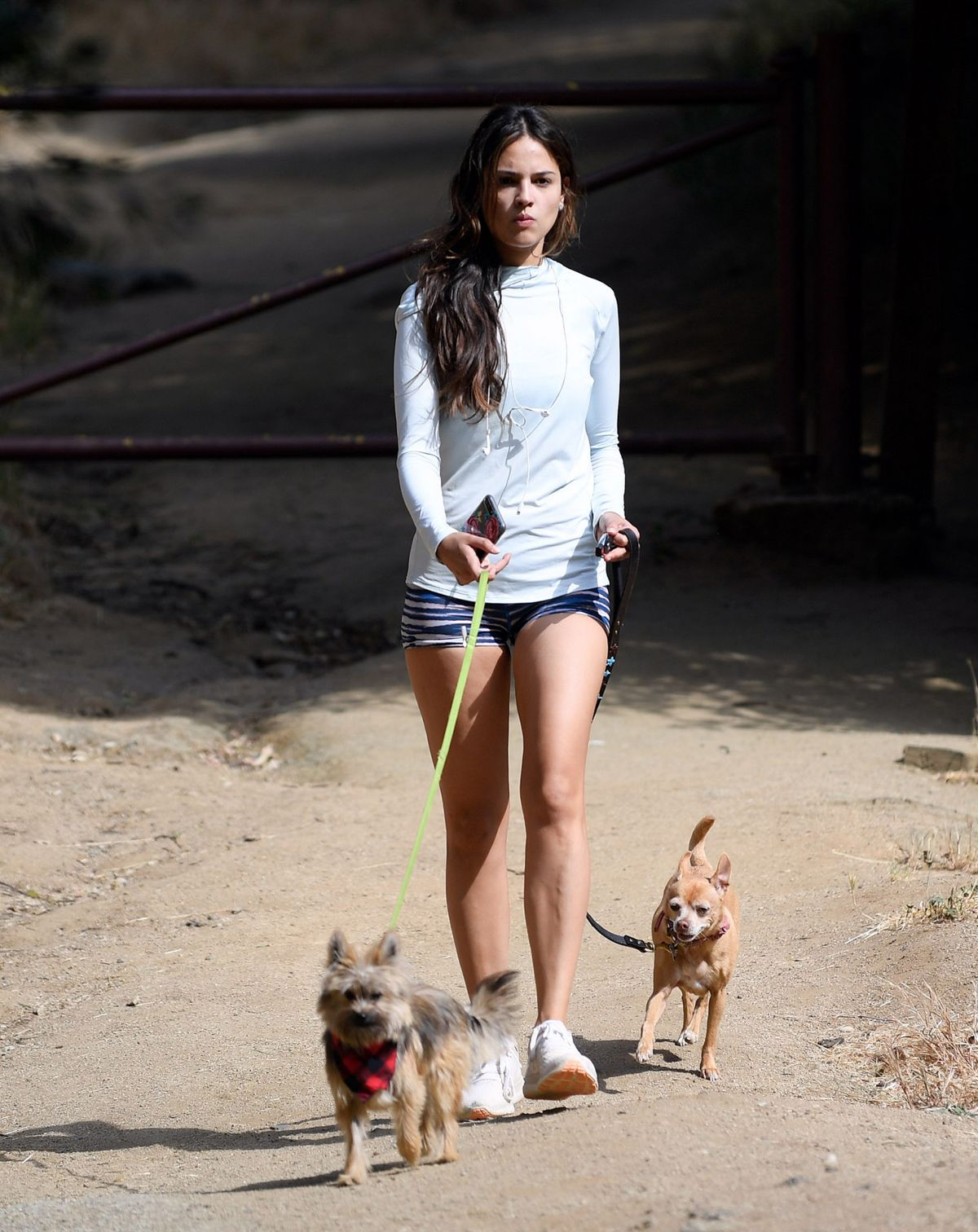 EIZA GONZALEZ Walks Her Dogs Out in Los Angeles 05/15/2017