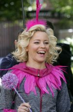 ELIZABETH BANKS in the Set of The Muppets in New York 05/16/2017