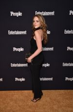 ELIZABETH GILLIES at Entertainment Weekly and People Upfronts Party in New York 05/15/2017