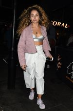 ELLA EYRE Night out in London 05/10/2017