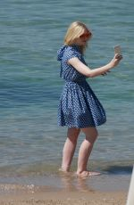 ELLA FANNING Out at Croisette at 70th Cannes Film Festival 05/17/2017