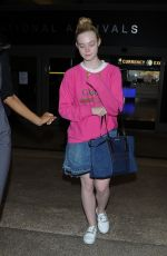 ELLE FANNING Arrives at LAX Airport in Los Angeles 05/25/2017