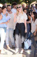 ELLE FANNING Arrives at Martinez Hotel in Cannes 05/16/2017