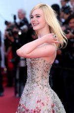 ELLE FANNING at Anniversary Soiree at 70th Annual Cannes Film Festival 05/23/2017