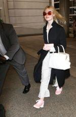 ELLE FANNING at Los Angeles International Airport 05/07/2017