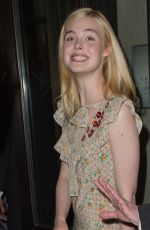 ELLE FANNING on Her Way to MET Gala in New York 05/01/2017