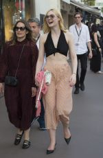 ELLE FANNING Out and About in Cannes 05/18/2017