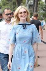 ELLE FANNING Out in Cannes 05/18/2017