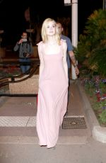 ELLE FANNING Walking Out on The Croisette in Cannes 05/19/2017