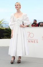 ELLE FANNING at The Beguiled Photocall at 2017 Cannes Film Festival 05/24/2017