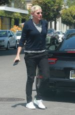 ELLEN DEGENERES Out for Lunch in West Hollywood 05/30/2017
