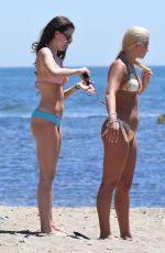 EMILY BLACKWELL in Bikini with Friend on the Beach in Marbella 05/18/2017