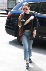 EMILY MEADE Makes an Outfit Change at Bowery Hotel in New York 05/03/2017
