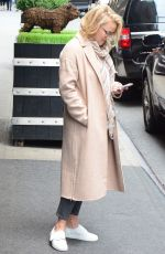 EMILY OSMENT Waits for a Taxi in New York 05/11/2017