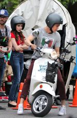 EMMA ROBERTS and Hayden Christensen on the Set of Little Italy in Toronto 05/30/2017