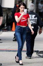 EMMA ROBERTS on the Set of Little Italy in Toronto 05/24/2017