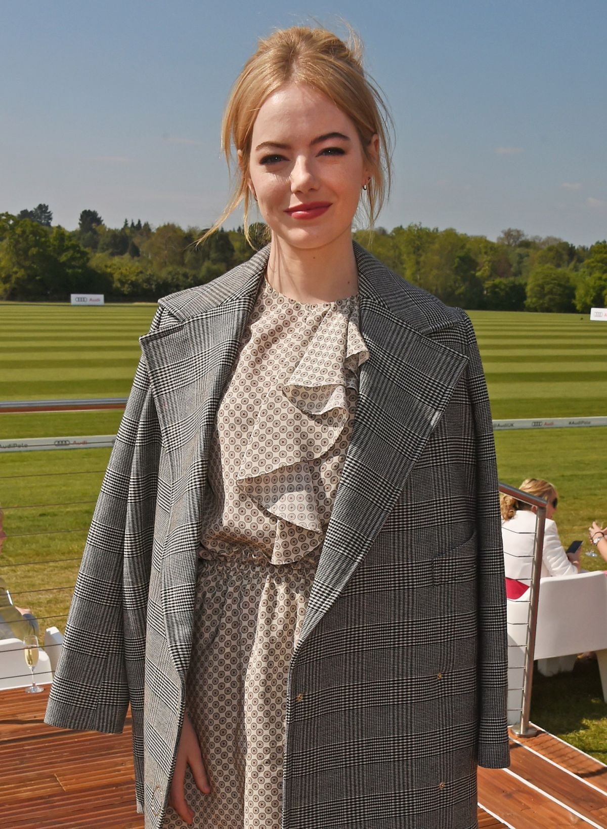 EMMA STONE at Audi Polo Challenge in Ascot, Day Two 05/07/2017