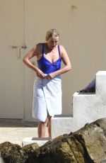EMMA THOMPSON in Swimsuit at Hotel Du Cap Eden Roc in Antibes 05/20/2017
