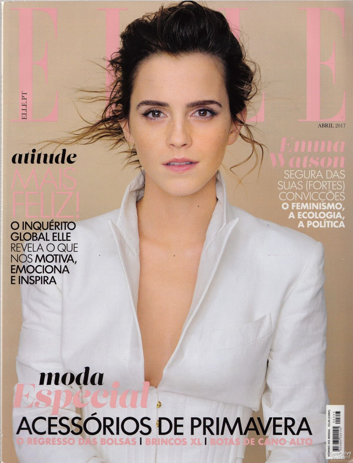 EMMA WATSON in Elle Magazine, Portugal April 2017