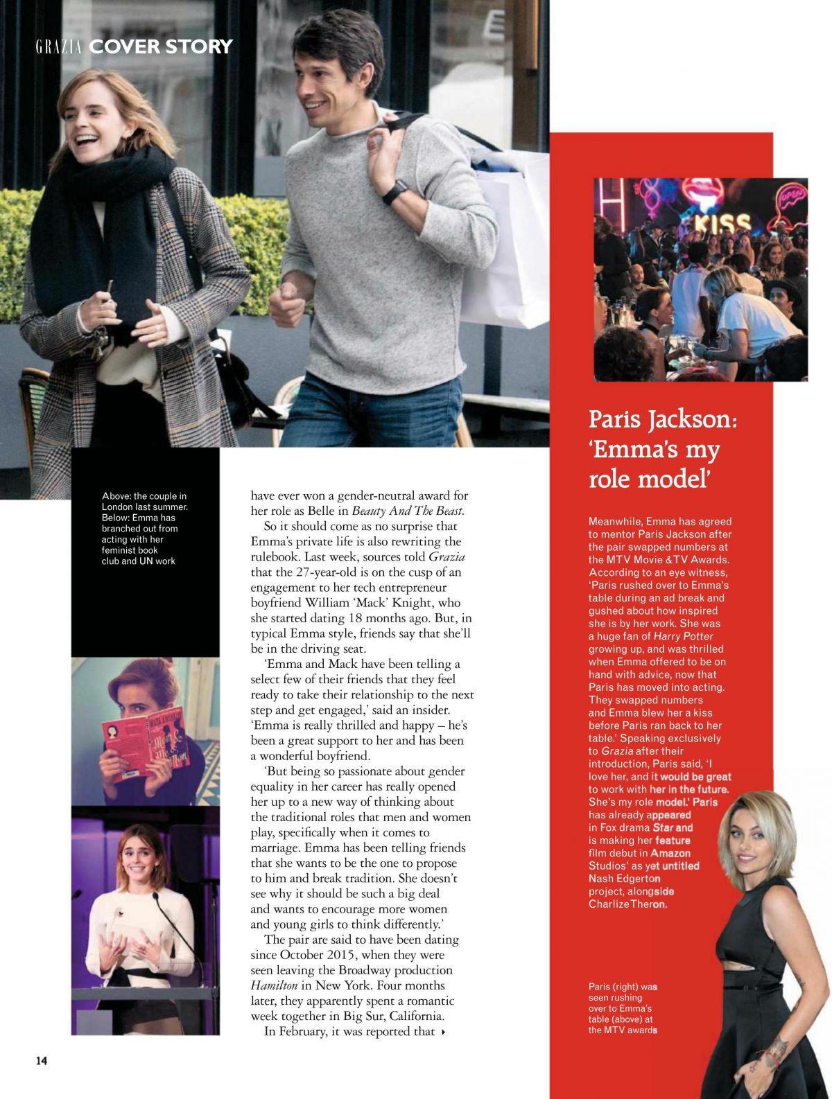 EMMA WATSON in Grazia Magazine May 2017