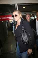 EMMANUELLE BEART at Airport in Nice 05/22/2017