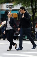 EMMY ROSSUM and Sam Esmail Out in New York 05/27/2017