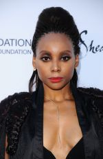 ERICA ASH at Wearable Art Gala at California African American Museum in Los Angeles 04/29/2017