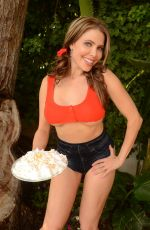 ERIKA JORDAN Celebrates National Coconut Cream Pie Day in Beverly Hills 04/05/2017