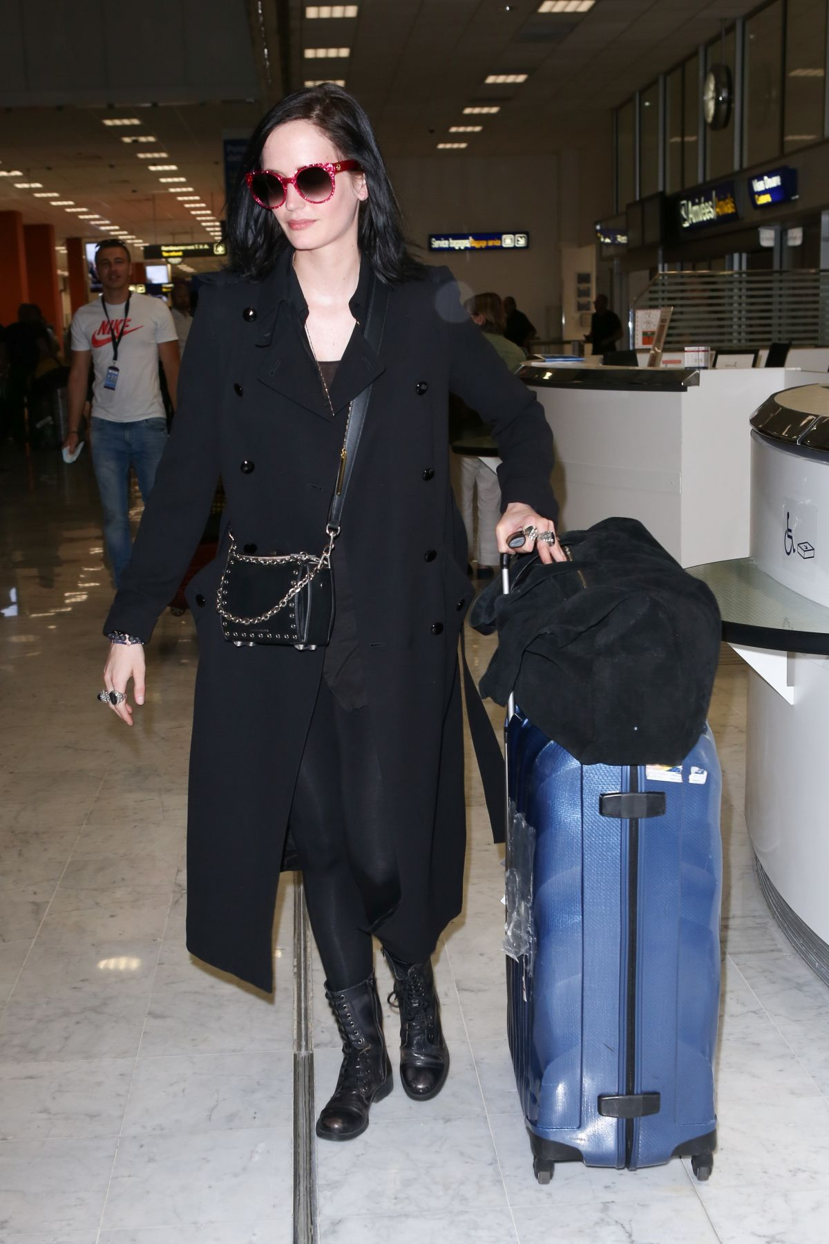 EVA GREEN at Nice Airport 05/25/2017 - HawtCelebs - HawtCelebs