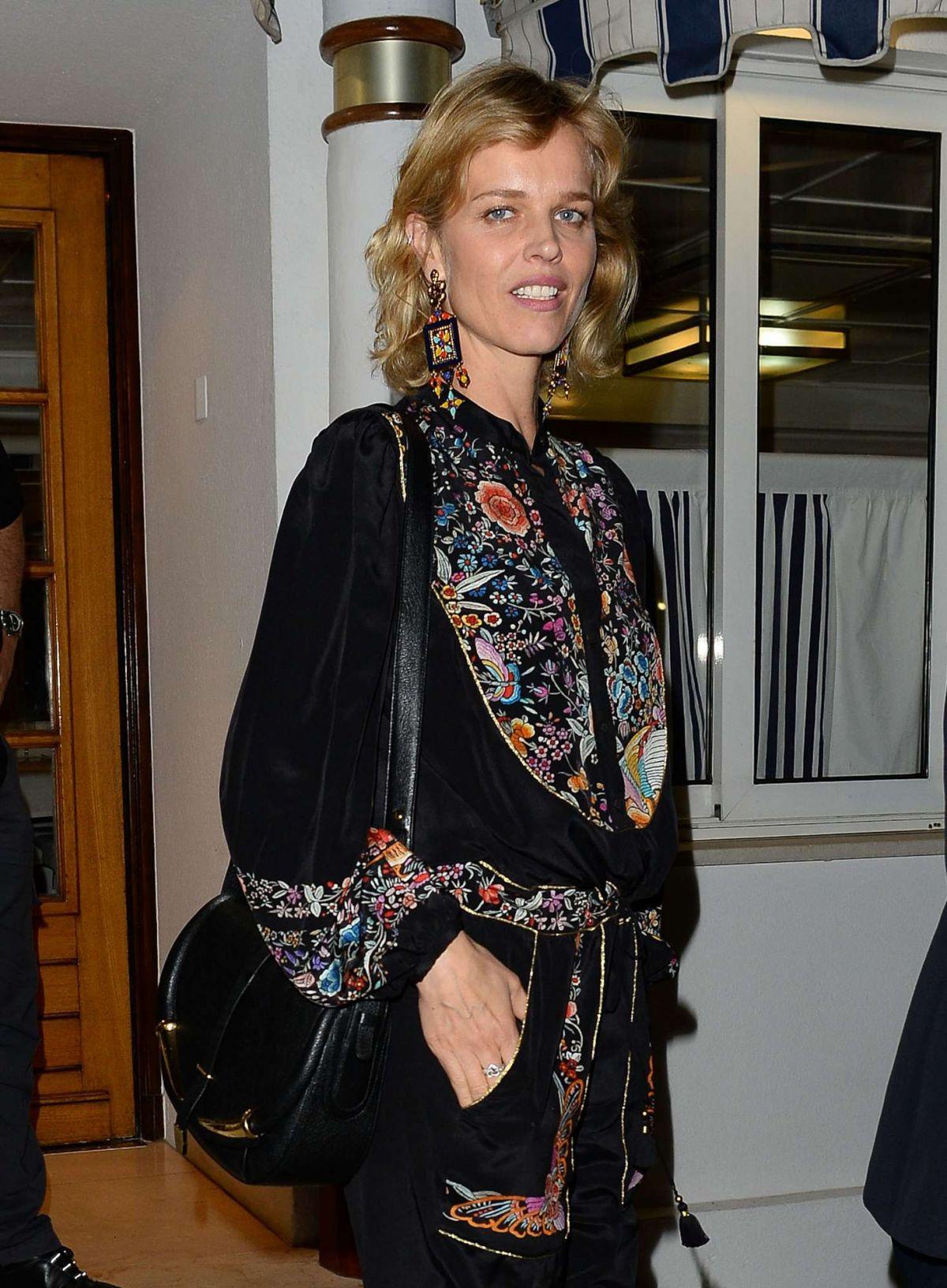 EVA HERZIGOVA Out for Dinner at Tetou Restaurant in Cannes 05/16/2017