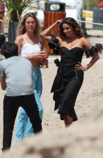 EVA LONGORIA and DOUTZEN KROES on the Beach in Cannes 05/23/2017
