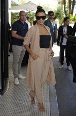 EVA LONGORIA Out on Croisette in Cannes 05/20/2017