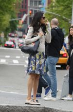 FAMKE JANSEN Out and About in New York 05/07/2017
