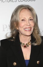 FAYE DUNAWAY at Paris Can Wait Premiere in Los Angeles 05/11/2017