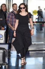 FELICITY JONES at JFK Airport in New York 05/02/2017
